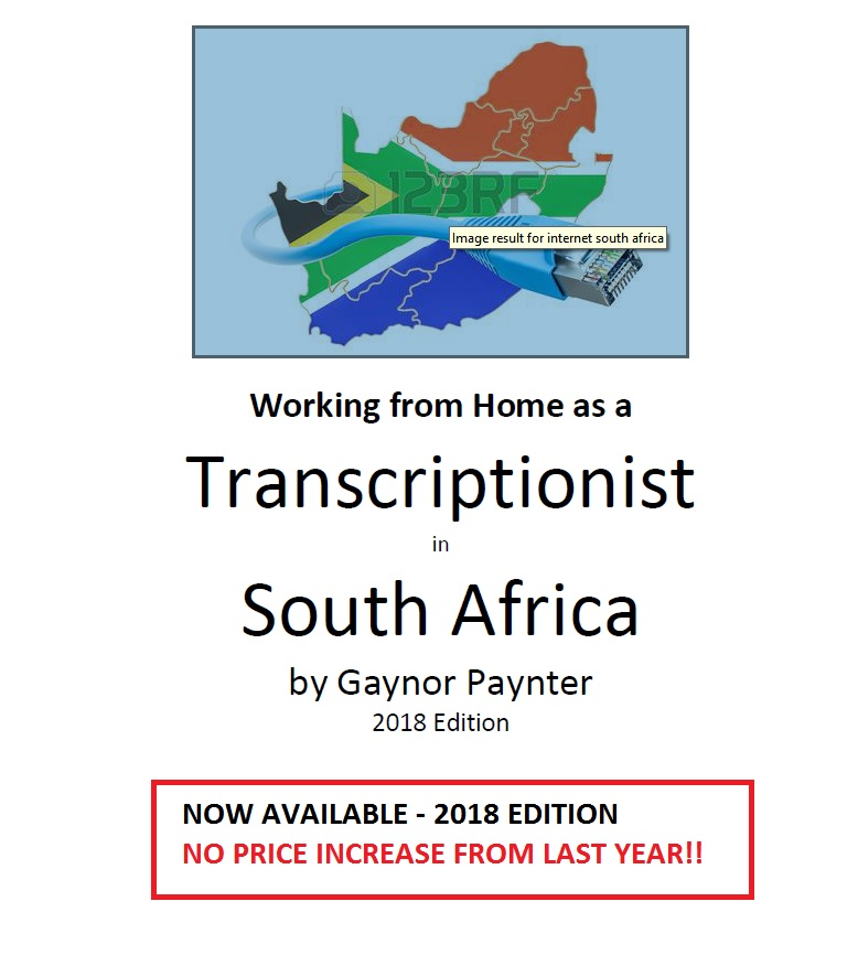 Transcription e-book. Click to read more about this informative e-book that is essential for all transcriptionists starting out in South Africa today.