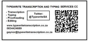 Home - Typewrite Transcription and Typing Services CC