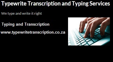 Rates - Typewrite Transcription and Typing Services CC