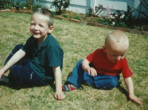 My babies Andrew and  Brandon about 2002