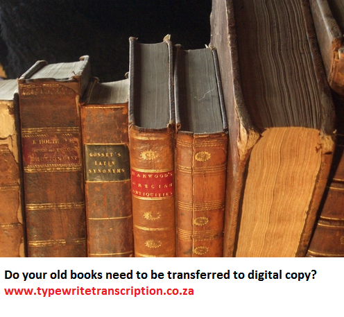 typing old books
