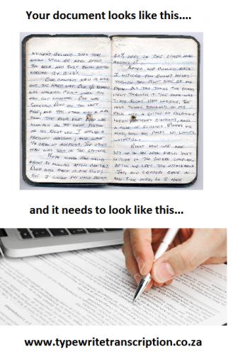 Typing handwriting