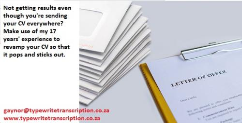 CV writing services south africa