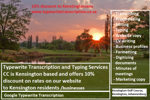 transcribing business services johannesburg